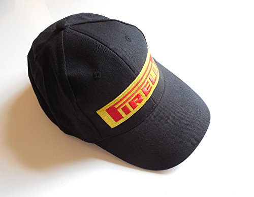 new-pirelli-logo-black-baseball-cap-hat-with-adjustable-strap-with-clip