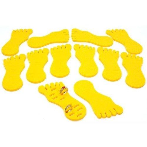 12 Toe Ring Foot Foam Display Body Jewelry Case Yellow