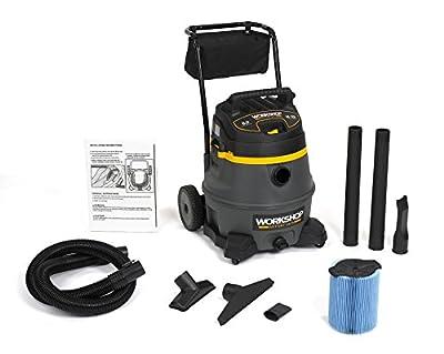 WORKSHOP Wet Dry Vac WS1400CA High Power Wet Dry Vacuum Cleaner, 14-Gallon Shop Vacuum Cleaner, 6.0 Peak HP Wet And Dry Vacuum