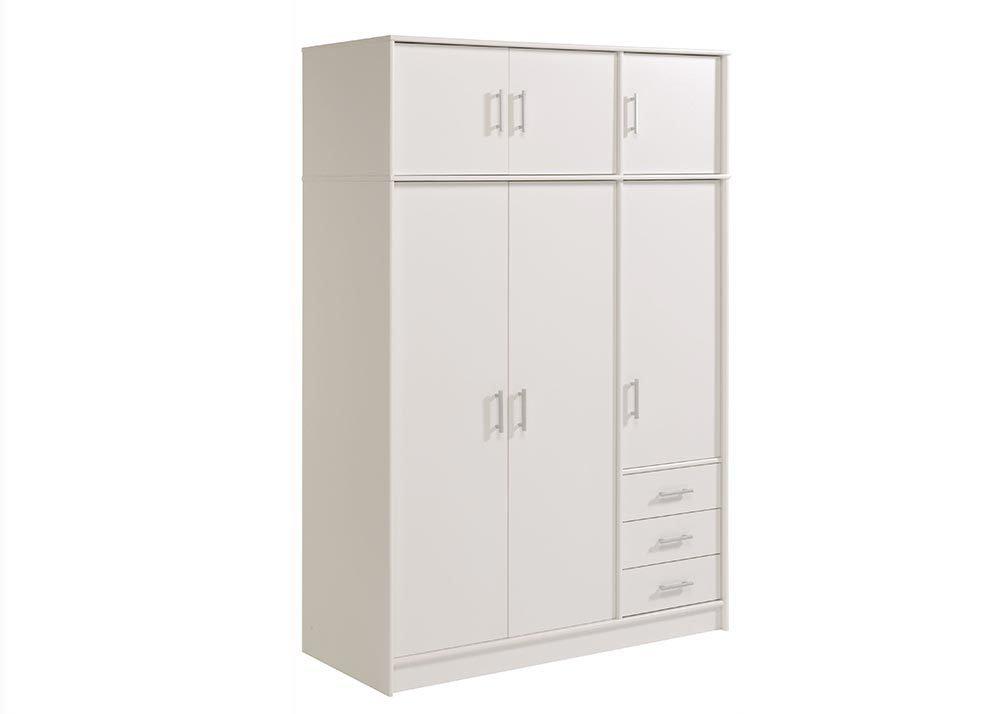 Jumbo-Möbel Kleiderschrank ESSENTIAL in Weiß, B: 130 cm jetzt bestellen