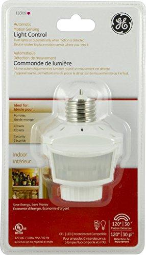 GE Automatic Motion Sensing Light Control CFL & LED Ready – 18309