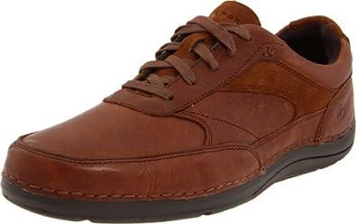 (降价)Rockport Men's Ttw Mudguard Lace-Up 乐步男士减震休闲皮鞋黑色$49.09