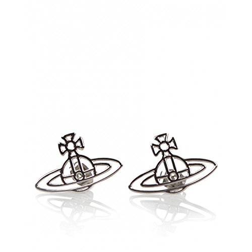 (ヴィヴィアンウエストウッド)Vivienne Westwood Thin Lines Flat Orb Stud Earrings ピアス Palladium BE157/2[並行輸入品]