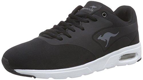 KangaROOS KangaCore 2106, Low-Top Sneaker Unisex - bambino, Nero (Nero (black 500)), 41