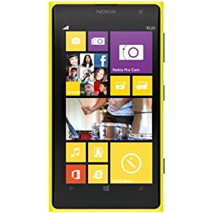 Nokia Lumia 1020 Smartphone (11,8 cm (4.5 Zoll) PureMotion HD+ OLED Touchscreen mit ClearBlack Technologie, 41 Megapixel, 32 GB, Windows 8) weiß