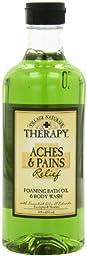 Village Naturals Therapy Foaming Bath Oil, Aches & Pains, 16 oz. (2 Bottle Bundle)