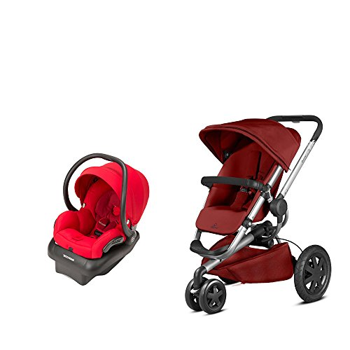 Quinny Travel System: Buzz Xtra Stroller Red Rumor & Mico AP Infant Car Seat Red Rumor quinny buzz xtra 2 in 1 baby stroller high landscape folding three wheeled shock absorber baby stroller bidirectional push carts