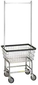 Standard Laundry Cart w/ Double Pole Rack* Model Number 100E58