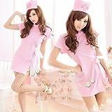 コスプレ衣装 ナース 看護婦コスチューム ナース服・帽子2点セット ピンク