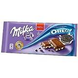 Milka Oreo Alpine Milk Chocolate, 3.5 oz Bar-Pack of 3