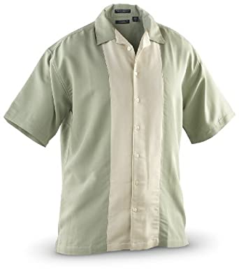 Men's River's End® Contrast Panel Camp Shirt, SAGE, SM