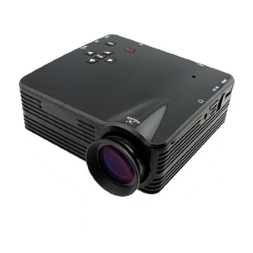 Home Cinema Theater Multimedia Led Lcd Projector Hd 1080P Pc Av Tv Vga Usb Hdmi Color: Rubber Black Size: 80H Pc, Personal Computer