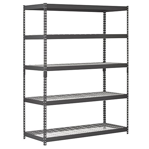 Edsal TRK-602478W5 Heavy Duty Steel Shelving In Black 60x24x78 inches