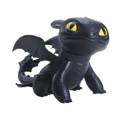Dreamworks Dragons Defenders of Berk Mini Dragons Toothless Night Fury Action Figure (Sitting)
