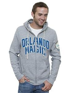 NBA Orlando Magic Mens Vintage Full Zip Hoodie, Grey by Junk Food