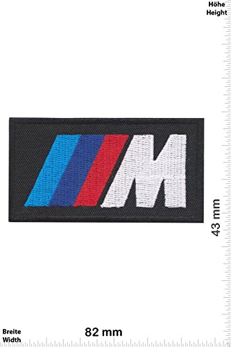 Patch - BMW M Power - black- Cars - Motorsport - Racing Car Team - toppa - applicazione - Ricamato termo-adesivo - Give Away