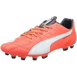 PUMA evoSPEED 3.4 Lth - Zapatillas de fútbol para hombre, color rosa, talla 45