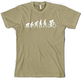 Evolution of Man - Men's Cycling T shirt - Dressdown- Small - Khaki