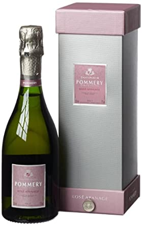 Champagne Pommery Rosé Apanage in edler Geschenkpackung (1 x 0.375 l)