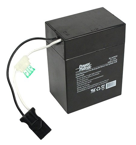 6 Volt Battery for Power Wheels Toys with a Connector