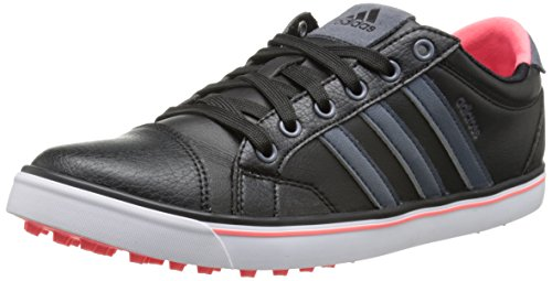 adidas Women's W Adicross IV Golf Shoe, Black/Onix/Flash Red, 8 M US