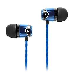 SoundMagic E10-BLBK Noise Isolating In-Ear Earphones (Blue)