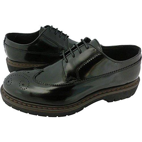 Scarpe Uomo Exton 865 0704 - Sneaker made in italy abrasivato nero (41)