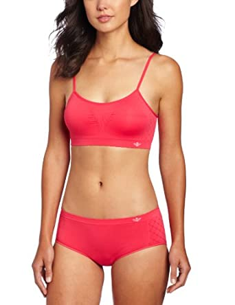 Lily of France Women's Dynamic Duo Seamless Bralette and Hipster Set, Hot Pink, Small/Medium