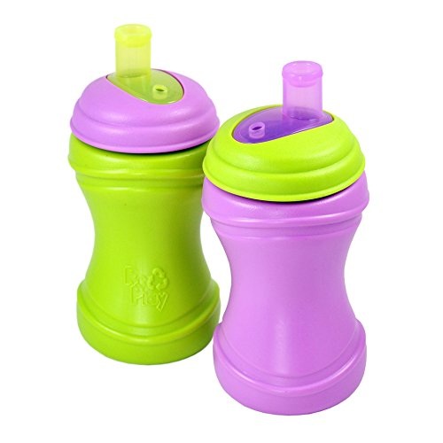 Re-Play 2 Piece Soft Spout Cup, Purple/Green - 1