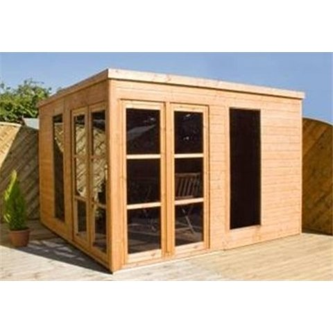 10FT x 10FT POOLHOUSE SUMMERHOUSE