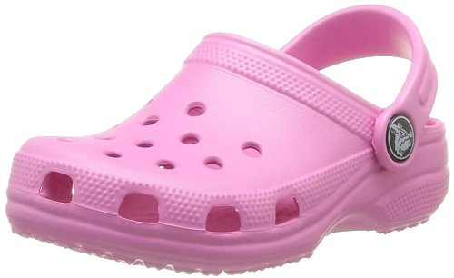 crocs Kids Classic Clog (Infant/Toddler/Little Kid/Big Kid) (12/13, Party Pink)