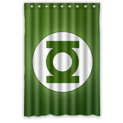 Custom Unique Design Anime Green Lantern Waterproof Fabric Shower Curtain, 72 By 48-Inch front-505561