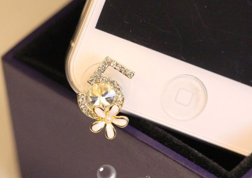 Cjb Dust Plug / Earphone Jack Accessory Camellia No. 5 For Iphone 5 All Device With 3.5Mm Jack (Us Seller)