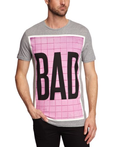 Sinstar Bad Crew Neck Printed Men's T-Shirt Grey Marl X-Large
