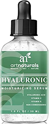 Art Naturals® Hyaluronic Acid Serum 1 oz -BEST Anti Aging Skin Care Product for Face Clinical Strength With Vitamin C Serum, Vitamin E & Green Tea -Reduces Wrinkles & More - For Youthful & Radiant Skin