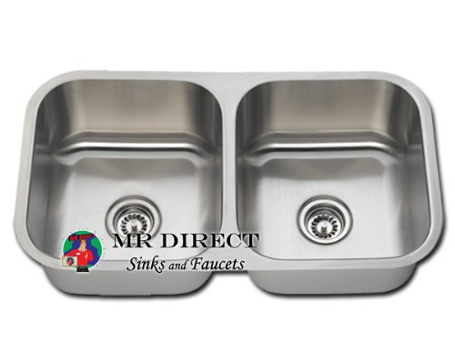 Pegasus Undermount Sink : Stainless Steel Undermount Kitchen Sink - Double Bowl from American ...