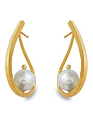 Aastha Jain Paisley Sterling Silver(18k Gold Plated) Earring For Women