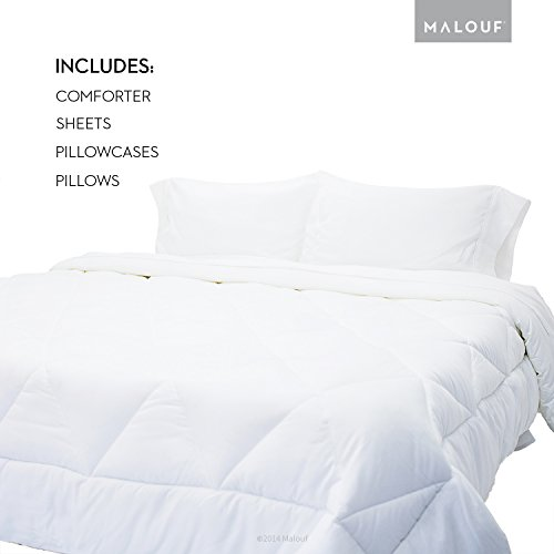 Bedding Essentials Kit - Bed In A Bag - Includes One Pillow, Comforter, And Sheet Set - Twin Xl front-491681