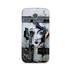 Mobicture Girl Abstract Premium Printed Case For Moto E2