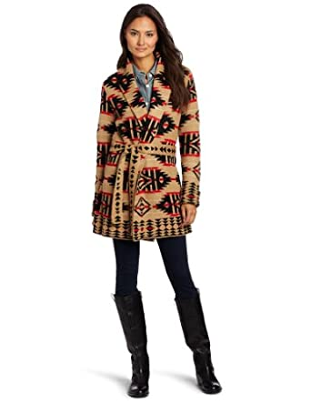 Jones New York Women's Long Sleeve Shawl Collar Belted Sweater, Gold Sand Combo, Small