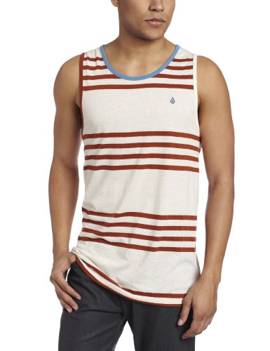 Volcom - Mens Circle Square Tank Top, Size: Small, Color: Off White