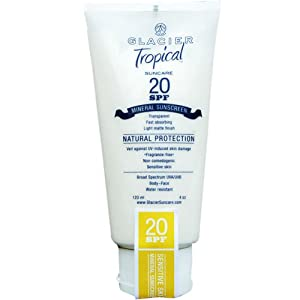 Glacier Tropical 20 SPF Aloe-based Lotion