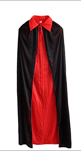 FloYoung Vampire Cape Costume Halloween Black Red Cosplay Party Cloak Cape