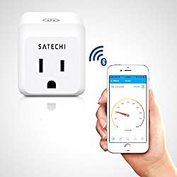 Satechi® IQ Plug Bluetooth 4.0 Wireless App-Controlled Smart Meter for iPhone 6 Plus/6/5S/5C, iPod Touch 5G/4G, iPad Air 2/Air/Mini/3/2/1