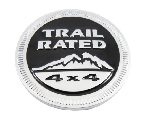Auto car metal black TRAIL RATED 4X4 fit for