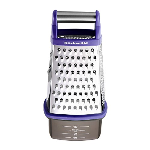 KitchenAid Gourmet Box Grater, Indigo (Rotary Cheese Grater Kitchenaid compare prices)