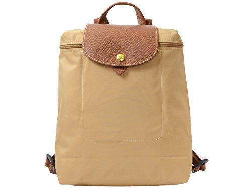(ロンシャン) LONGCHAMP バッグ BAG ル・プリアージュ 折りたたみ リュックサック バックパック ナイロン レザー 1699-089 ブランド 並行輸入品 (Beige moye)