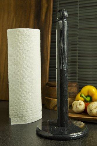 Marble Paper Towel Holder Black Hardware Building