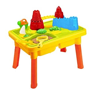 Sandbox Castle 2-in-1 Sand and Water Table with Beach Play Set