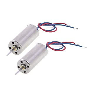 2 Pcs DC 3.5V 7mm x 16mm Cylinder Mini Coreless Motor for Model Aircraft Toy from Amico